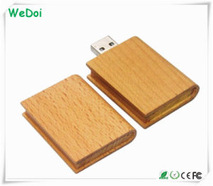 Book Shaped Wooden USB Stick 8GB Full Capacity (WY-W10) pictures & photos