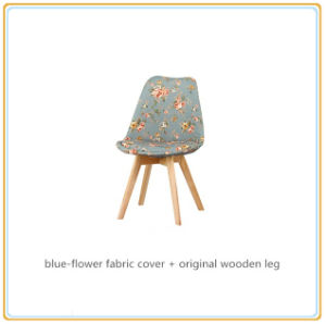 Leisure Chairs with Blue-Flower Fabric Cover and Original Wooden Legs pictures & photos