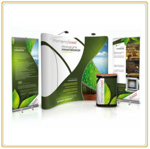 Curve or Straight Spring Pop up Stand (8FT Pop Up) pictures & photos