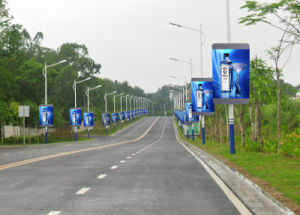 P5 Full Color Advertising Programmable LED Sign for Outdoor Street Pole pictures & photos