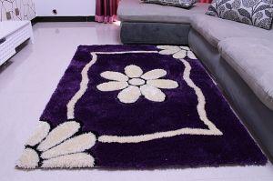 Simple Purple Silk Carpet