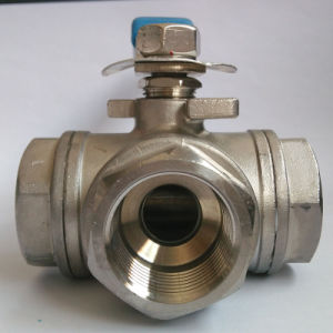Pn16 Stainless Steel Three Way Ball Valve pictures & photos