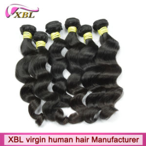 No Tangle Natural Black Virgin Peruvian Best Hair Weave pictures & photos