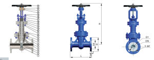 Factory of Vmv DIN GS-C25 Standard Bellows Seal Gate Valve