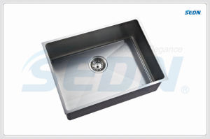 Handmade Stainless Steel Single Bowl Sink (SB1066A) pictures & photos