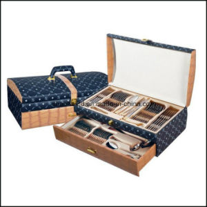 72PCS 84PCS Cutlery Set with Leather Box pictures & photos