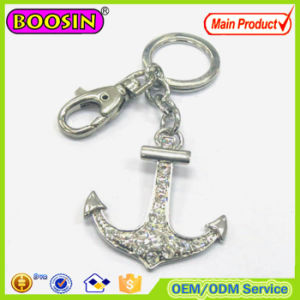 2016 Newest Crystal Anchor Metal Custom Nautical Keychain #15510 pictures & photos
