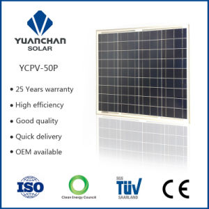 Poly Silicon Material 50 Watt Solar Panel with 25 Years Warranty 80% Power in Jiangsu Factory pictures & photos