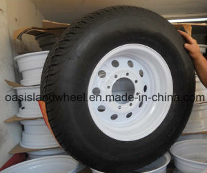 Mounting 235/75r17.5 Trailer Tire with Rim pictures & photos