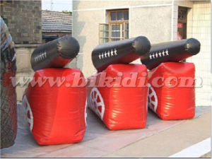 Commercial Outdoor Inflatable Cannon Paintball Bunker K8116 pictures & photos