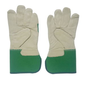 Pig Skin Safety Working Gloves for Riggers pictures & photos
