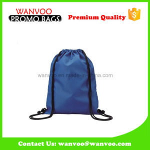 Promtional Blue Drawstring Bag for Shoes pictures & photos