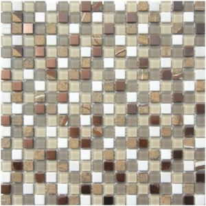 Topsale Glass Mixed Marble Mosaic 15X15X4mm Cadiz Flooring Tile for 903