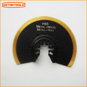 86mm HSS Titanium Coated Segment Saw Blade 86mm in Double Blister Packing pictures & photos
