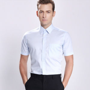 Tc65/35 Men′s Formal Fashion Long Sleeve Dress Shirt pictures & photos