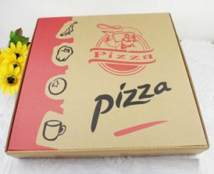 Kraft Paper Pizza Box Food Grade pictures & photos