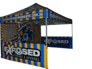 3X3m Pop Up Folding Portable Gazebo Canopy Tent With Half Wall Design