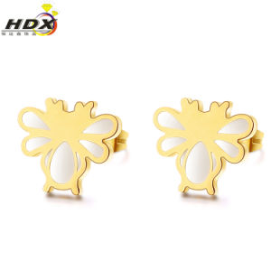 Stainless Steel Dragonfly Earrings Fashion Jewelry Gold Stud Earrings pictures & photos