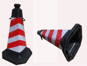 Hot Sale Professional Industrial Rubber Flexible Roadway Traffic Cones pictures & photos