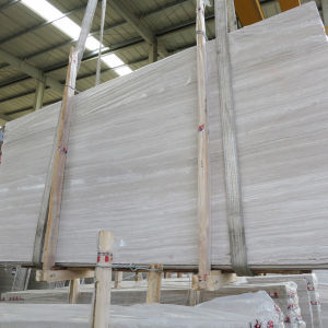 White Wood Vein Marble Slabs 2cm pictures & photos