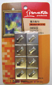 Plastic Adhesvie Hook (HK010C) Chrome for Household Products