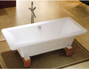 Wood Feet Freestanding Bath Tub pictures & photos
