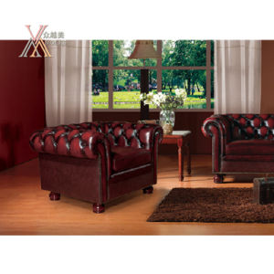 Living Room Antique Style Leather Sofa Set (S13) pictures & photos