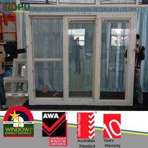Plastic Bi Fold Sliding Doors with Grey Glass pictures & photos