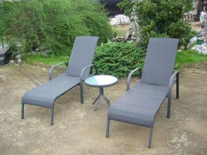 Wicker Rattan Sun Lounge Beach Chair Outdoor Furniture (FS-3001+FS-3002) pictures & photos