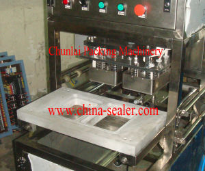 2015 New Vertical Type Pneumatic Tray Sealing Machine pictures & photos