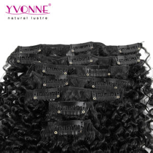 Kinky Curly Clip in Hair Extensions Human Hair pictures & photos