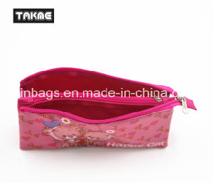 Cartoon Transparent PVC Printing Triple-Layer Pencil Case Bag for Children pictures & photos