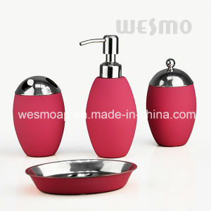 Olive Shape Stainless Steel Bathroom Accessories Set (WBS0812C) pictures & photos
