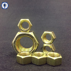 Hex Nuts SAE J995 Gr8 Zinc Yellow pictures & photos
