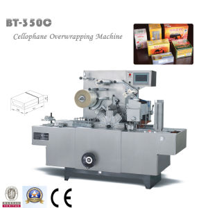 Bt-350c Overwrapping Machine with Gold Tear Tape pictures & photos