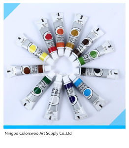 6*12ml Blister Packing Non Toxic Acrylic Paint in Aluminium Tube for pictures & photos