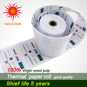 Wood Pulp Thermal Paper Thermal Paper Roll for ATM, POS pictures & photos
