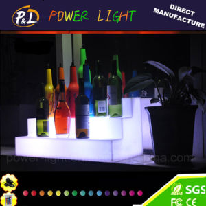 Bar Furniture Glowing Plastic Color Changing LED Wine Rack pictures & photos