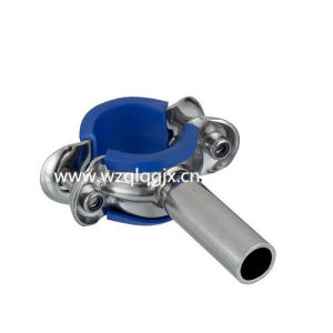 Sanitary Round Pipe Holder with Rubber pictures & photos