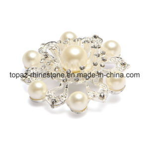 Newest Pearl Crystal Wedding Rhinestone Crystal Brooch for Ladies (TB-039) pictures & photos