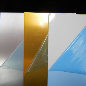 Brushed Gold/Silver Sublimation Aluminum Sheet pictures & photos
