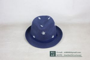 Trilby Straw Paper Hat (XH-PA2116) pictures & photos