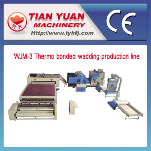 Nonwoven Without Adhesives Waddings Production Line pictures & photos