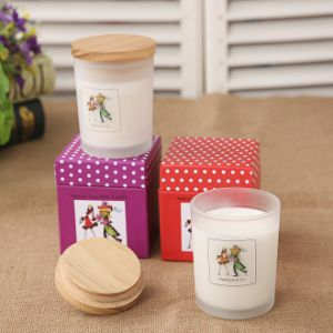Glass Jar Scented Candle with Lid in Gift Color Box pictures & photos
