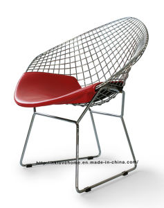 Modern Dining Restaurant Knock Down Metal Wire Diamond Chair pictures & photos