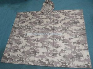 Unisex Durable 100% Waterproof Camouflage Rain Poncho for Army pictures & photos