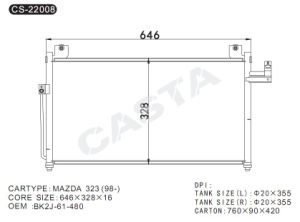 High quality condenser for Mazda 323 (98-) pictures & photos