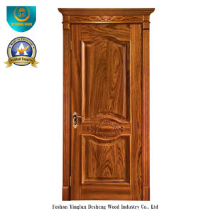 European Style Solid Wood Door with Carving (ds-049) pictures & photos