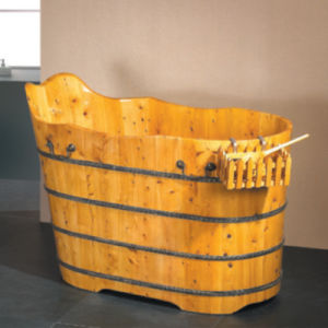 Bathroom Sanitary Ware Wooden Soaking Bathtub Bath Tub (NJ-012) pictures & photos