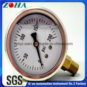 Oil Filled Mini Pressure Gauge with Psi Scale pictures & photos